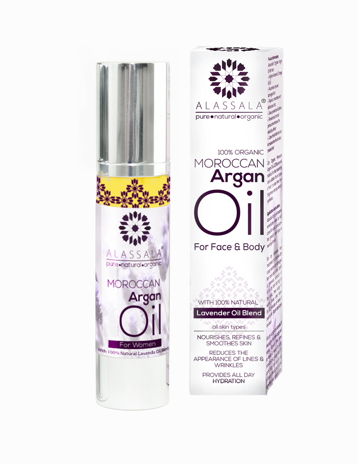 MOROCCAN ORGANIC ARGANOVÝ OLEJ PRO PLEŤ A TĚLO (with 100% Natural Lavender Oil B