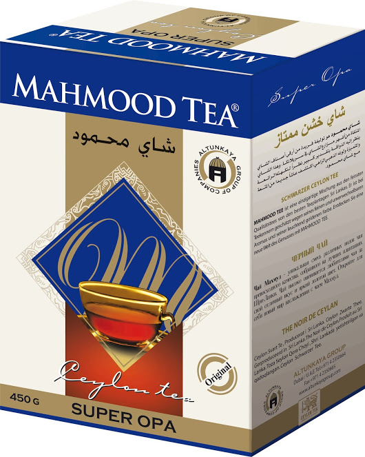 Čaj Ceylon super opa, Mahmood tea, 450g